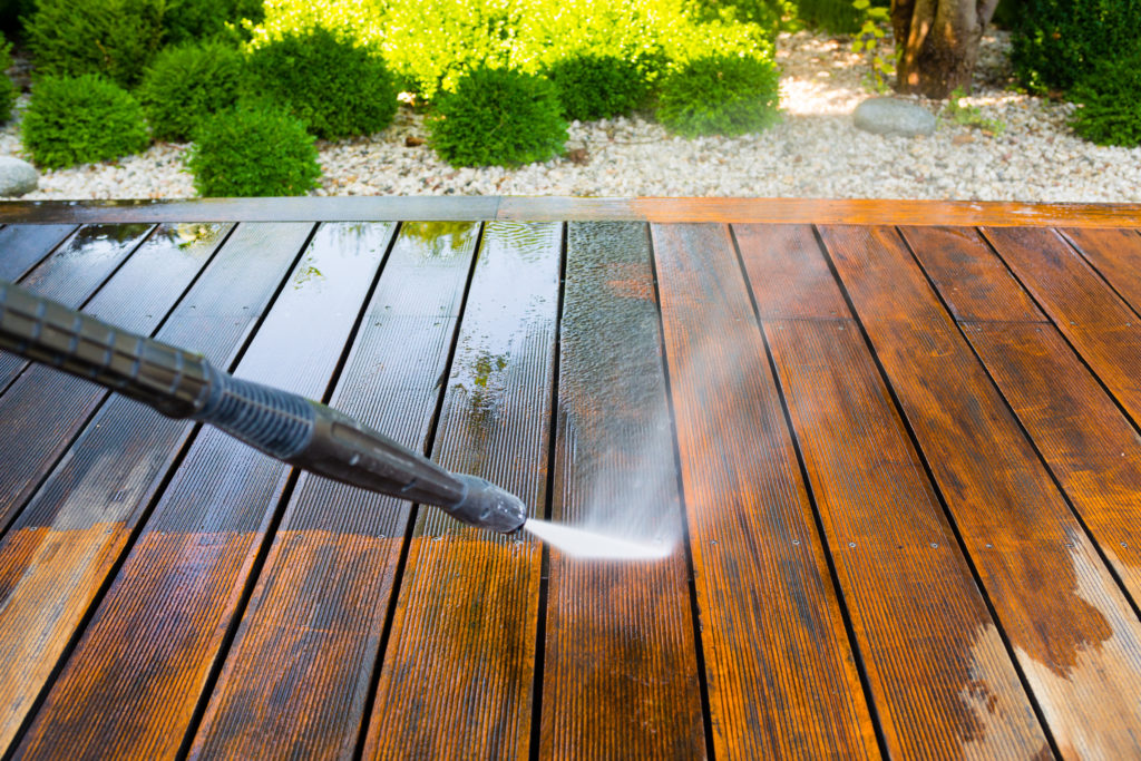 Deck cleaning for spring